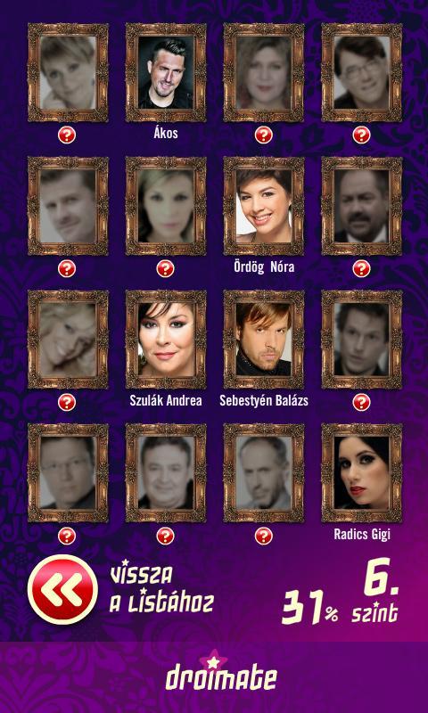 Magyar Celeb Kvíz - screenshot
