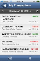 Screenshot of IMS Barter Mobile