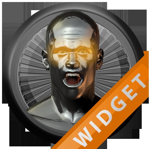 Poweramp Widget Orange Atlanti