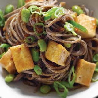 Stir-Fried Tofu with Soba Noodles.