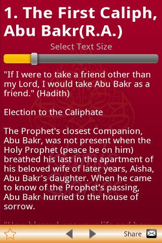 Stories of Sahabas in Islam - screenshot