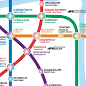 SAINT PETERSBURG METRO MAP HD
