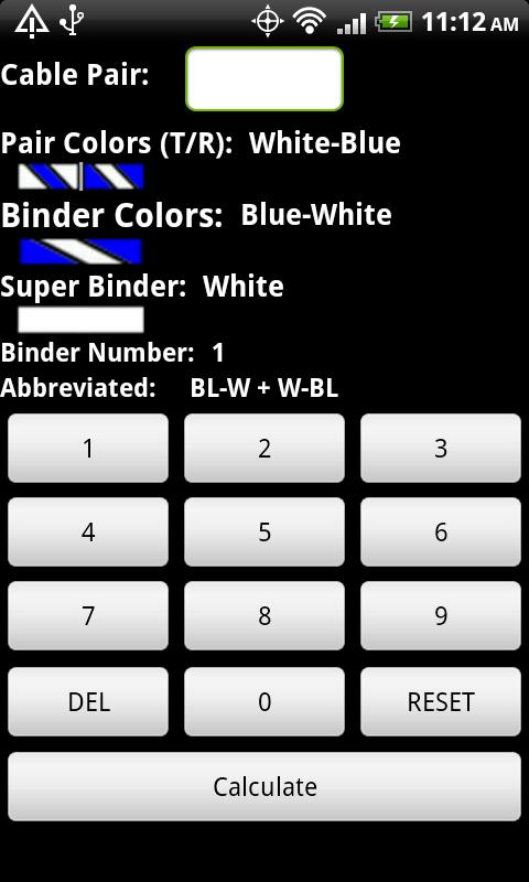 Telecom Color Code Calculator- screenshot
