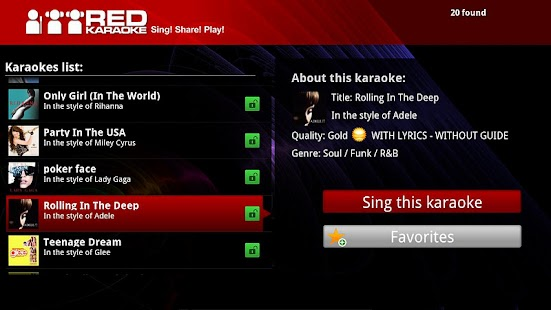 Red Karaoke for Google TV - screenshot thumbnail