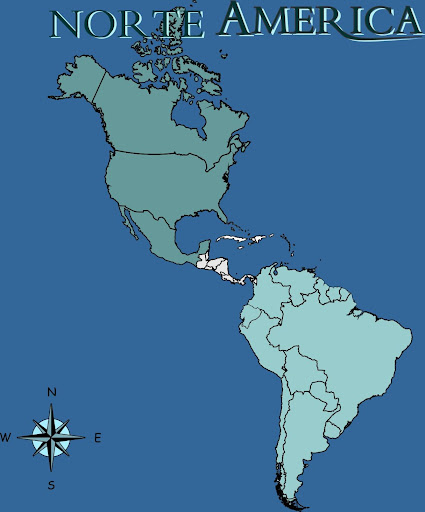 MAPA DE PAISES DE AMERICA