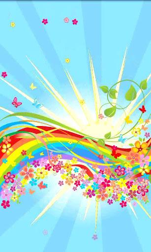 Rainbow Sun Live Wallpaper