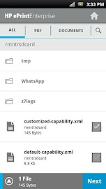 HP ePrint Enterprise (service) Screenshot 6