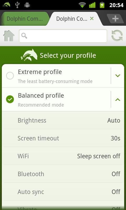 Dolphin Battery Saver- screenshot