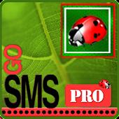 Go SMS Pro Green Ladybug Theme