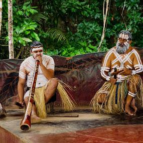 Musicians by Angelica Glen - People Musicians & Entertainers ( musicians, digeridoo, aboriginal, australia, clap sticks,  )