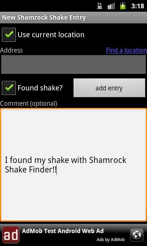 Shamrock Shake Finder- screenshot