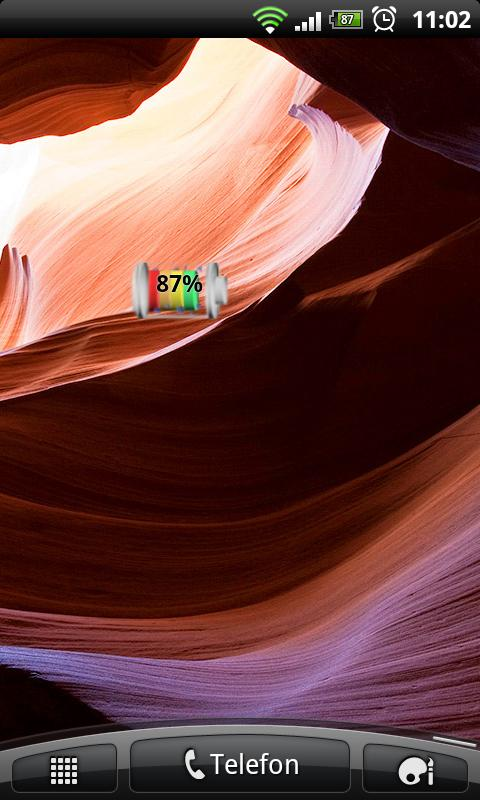 Colored Battery Widget - screenshot