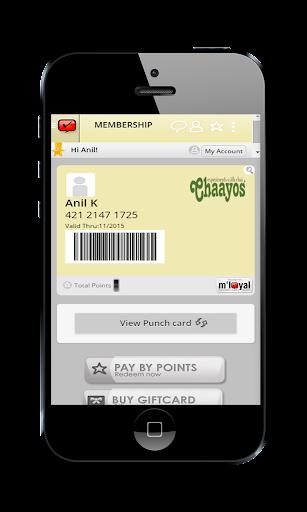 Chaayos mLoyal App
