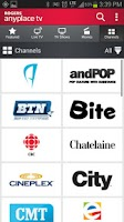 Screenshot of Rogers Anyplace TV