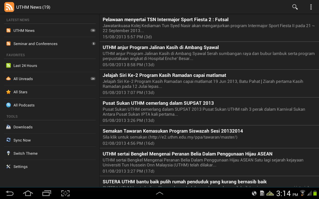 UTHM News - screenshot