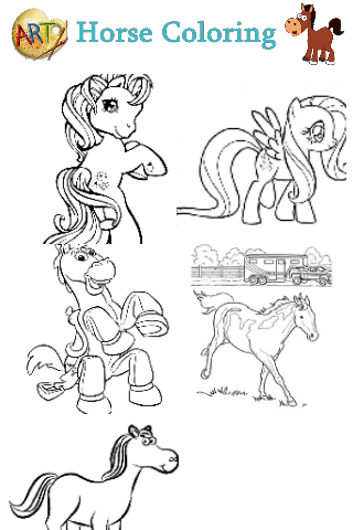 Horse Coloring For Kids