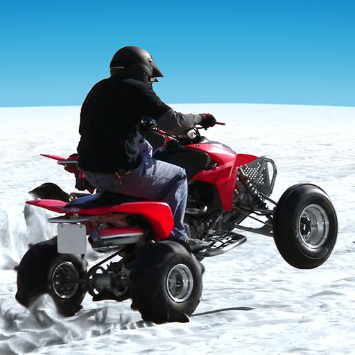 赛车游戏の4x4のオフロード 冬のゲームATV LOGO-記事Game