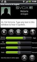 Screenshot of SVOX UK English Victoria Voice