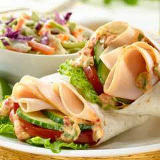 Smoked Turkey Wraps With Chipotle Mayo.