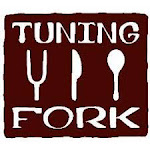 Logo of Tuning Fork Dead Head Red