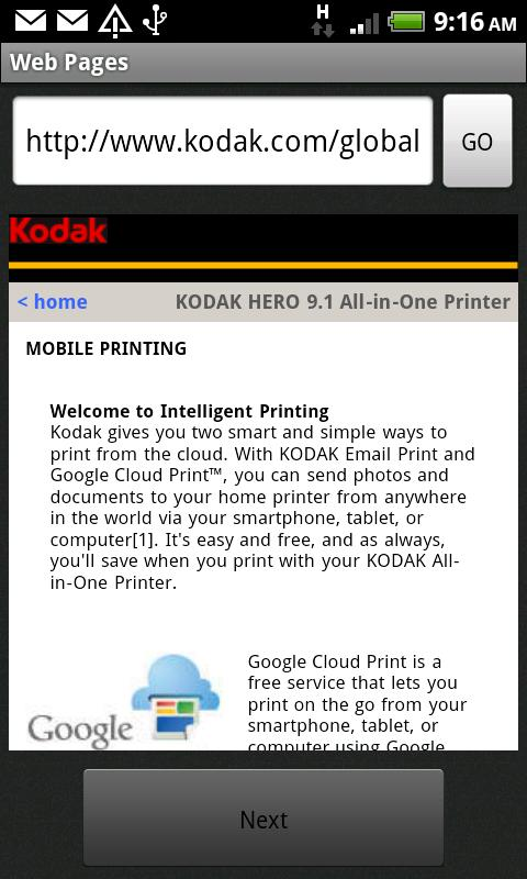 KODAK Document Print App- screenshot