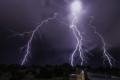 Explosive entrance by Craig Eccles - Landscapes Weather ( clouds, thunder, lightning, lightning storm, road., weather, thunder storm, storm, rain,  )