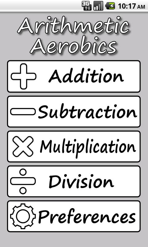 Arithmetic Aerobics- screenshot