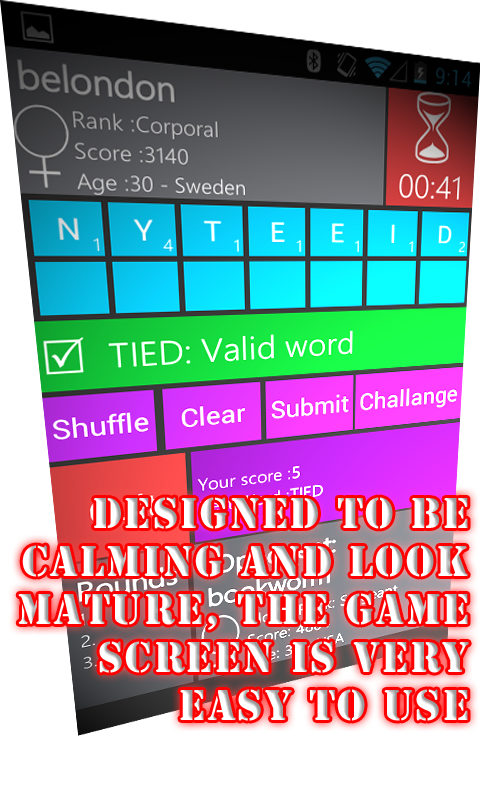 WordWarX Anagram Word Game- screenshot