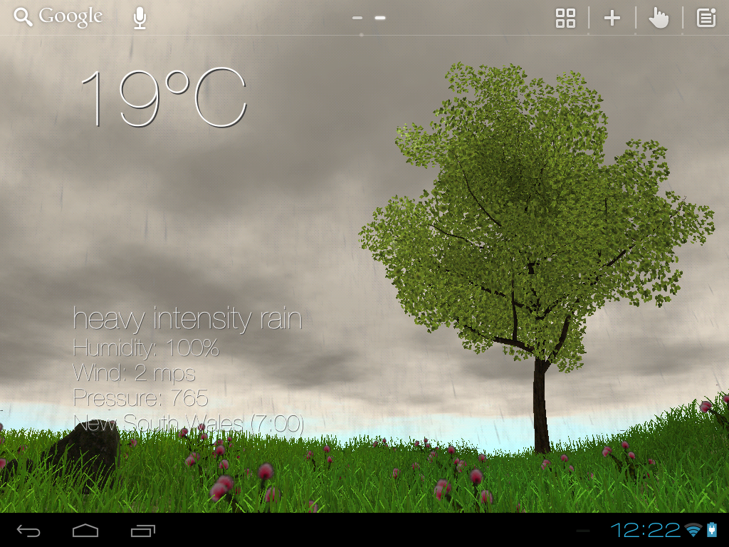 Nature Live Weather 3D LWP- screenshot