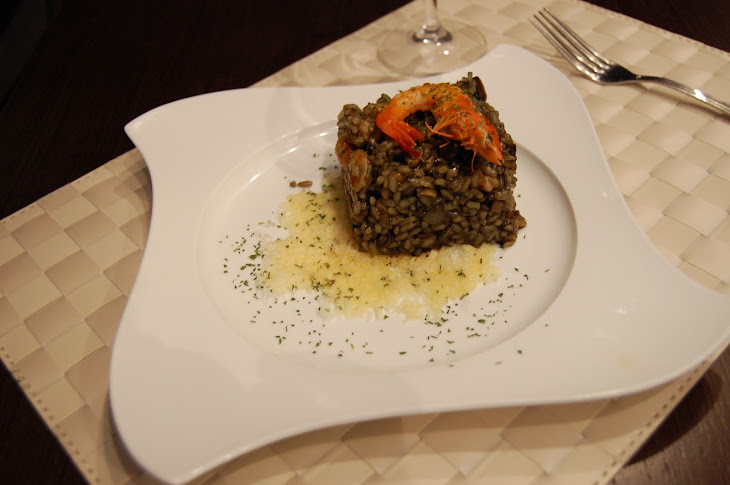Black Risotto with Shrimp and Mushrooms Recipe