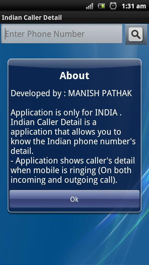 Indian Caller Detail - screenshot
