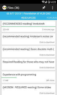 MDroid - Moodle mobile - screenshot thumbnail
