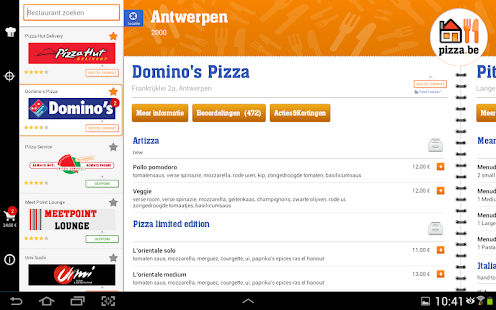 Pizza.be - screenshot thumbnail