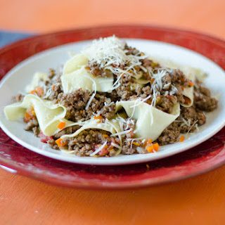 Pappardelle Bolognese.