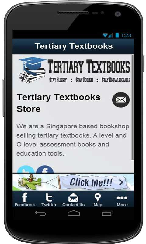 Tertiary Textbooks Store - screenshot