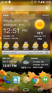 天氣和時鐘部件的Android