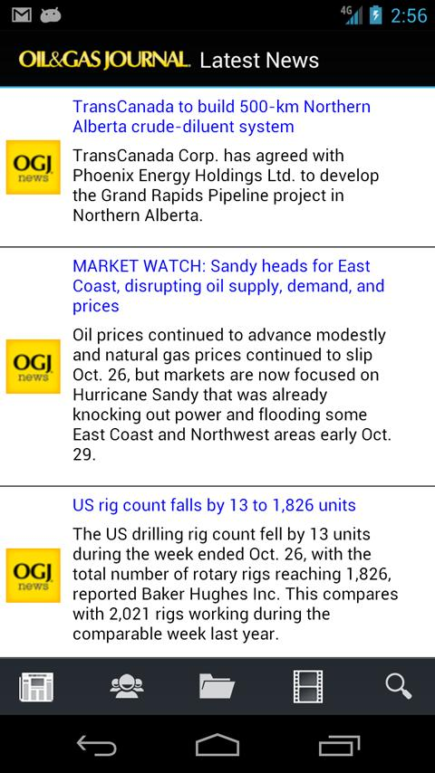 Oil & Gas Journal - screenshot