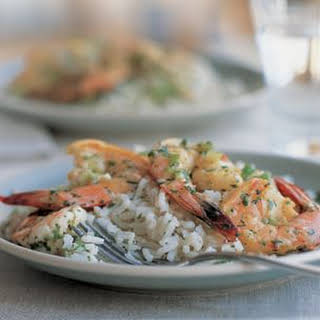 Lime Shrimp with Coconut Rice.