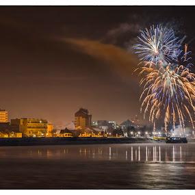 Happy New Year by Vanja Vidaković - Public Holidays New Year's Eve ( vukovar, croatia, 01.01.2015. 00:00 )