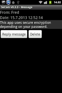 SeCom - encrypted messages- screenshot thumbnail