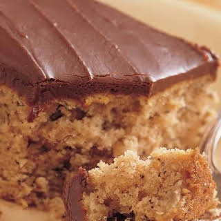 Banana Cake with Fudge Frosting.