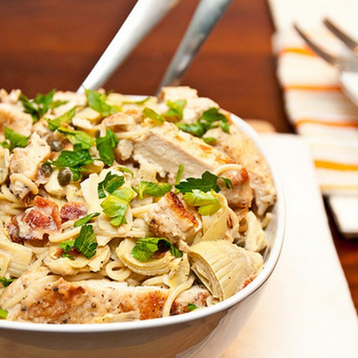 Artichoke Lemon & Chicken Pasta Recipe