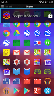 Shapes & Shades  icons&walls - screenshot