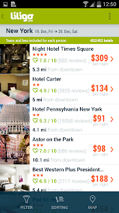 Liligo flight and hotel search- screenshot thumbnail