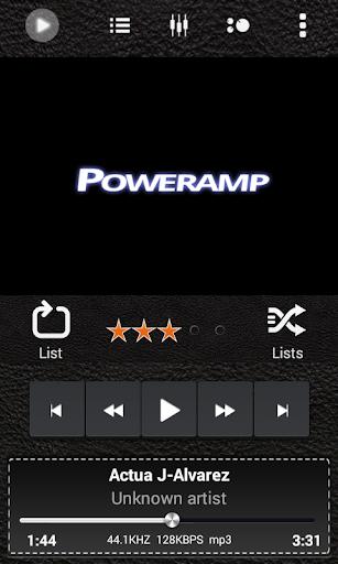 Poweramp Skin Black Leather