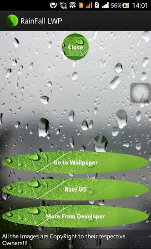 Rainfall Live Wallpaper