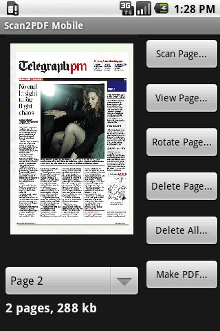 Scan2PDF Mobile Lite - screenshot