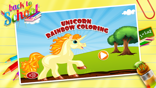 Unicorn Rainbow Coloring