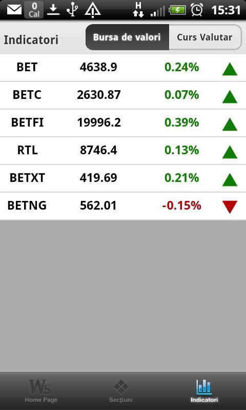 Wall-Street.ro - screenshot