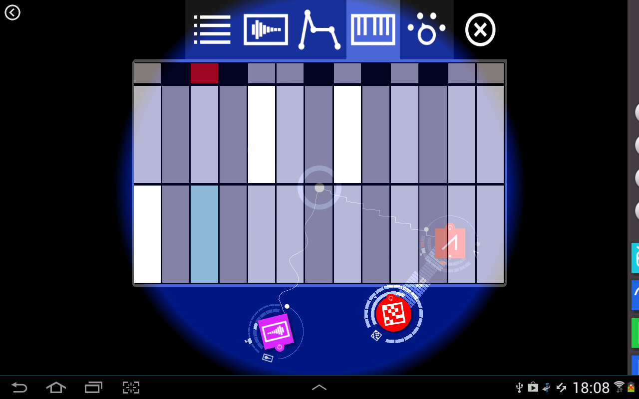 Reactable mobile - screenshot
